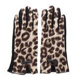 Scarfz warme dames handschoenen luipaard