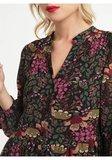 Boho maxi jurk Elicia An'ge Paris Fuchsia groen Bloemenprint Floral_