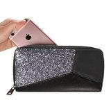 Scarfz portemonnee wallet glitter accent zwart zilver feestdagen groot formaat