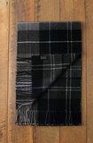 Mooie wollen heren sjaal Tartan geruit groen grijs zwart