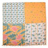 Vierkante dames sjaal Funky Cactus ananas pineapple oranje groen