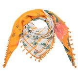 Vierkante dames sjaal Funky Cactus oranje