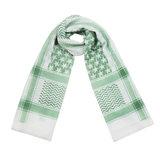 Scarfz lange dames sjaal wit groen Heavy Pattern
