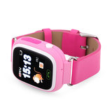 GPS Boss kinderhorloge tracker roze monkey rubber band
