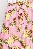 Scarfz roze midi rok gele ananas