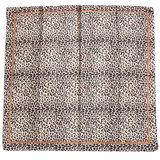 Scarfz zijdezacht vierkant klein sjaaltje silky leopard