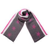 Scarfz lange dames sjaal shine like stars roze grijs wit