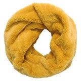 Scarfz gele nepbont sjaal faux fur scarf tube col yellow