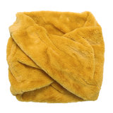 Scarfz gele nepbont sjaal faux fur scarf tube col