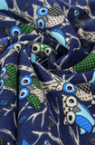 Scarfz blauwe sjaal Uil kinderen