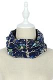 Scarfz blauwe col sjaal Uil kinderen