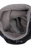 S carfz warme kindersjaal Snowflake blauw beige col