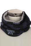 Scarfz kindersjaal warme col sjaal met voering Snowflake sneeuwvlok