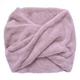 Scarfz faux fur col sjaal beige roze grijs