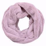 Scarfz faux fur col sjaal beige roze grijs nepbont