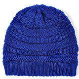 Scarfz royal blue beanie muts warm winter blauw