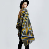 Scarfz musthave sjaal scarf woman stripes yellow blue grey geel