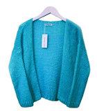 Scarfz alexandre Laurent vest fluffy turquoise blauw aqua
