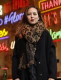Warme dames sjaal Leopard Love|Lange dames shawl|Extra dikke kwaliteit|Luipaard Leopard|Bruin Zwart|Franjes_