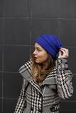 Warme dames muts Royal|Blauw|Gebreide beanie_