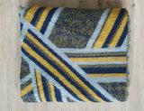 Lange dames sjaal Fancy|Blauw grijs geel|Dikke kwaliteit|Strepen_