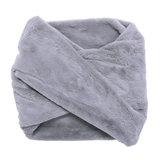 Scarfz faux fur col sjaal beige grijs