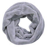 Scarfz faux fur col sjaal beige rijs grey nepbont