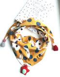 Leuke meisjes sjaal Yellow Rabbit|Okergele driehoek sjaal meisjes|Luchtige sjaal|Dierenprint_