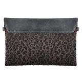 Dames clutch Leopard Lover|Handtas|Schoudertas|Luipaard print|Grijs_