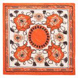 Scarfz oranje satijnen sjaal Orange summer