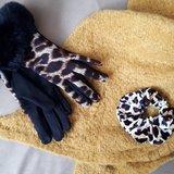 Zachte dames handschoenen Leopard Fur|Zwart Bruin|Luipaard print nepbont|warme handschoenen_