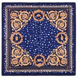 Scarfz vierkante satijnen sjaal Classic silky leo blauw blue