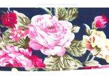 Scarfz haarband Roses bloemen roze flower blue pink