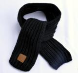 Warme gebreide kindersjaal Knitted Zwarte sjaal meisjes jongens_