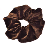 Scarfz scrunchie velvet sweet velvet haarelastiek hair tie bruin brown