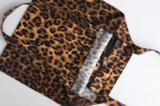 Katoenen shopper Leopard Boodschappentas canvas schoudertas Luipaard_