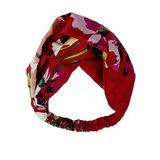 Haarband Silky Floral|Zijdezacht|Rood Roze Groen_