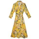 Lange jurk Spring Frangrance|Geel bloemenprint|Zomerjurk_