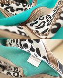 Strandjurk Leo Love|Tuniek kaftan|Luipaardprint|Blauw beige_