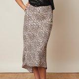 Rok Lady Mermaid luipaard|Lange rok|Luipaard print|Asymmetrisch|Zwart bruin goud_
