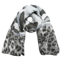 Lange dames sjaal Wild Cat|Lange shawl|Luipaard|Grijs