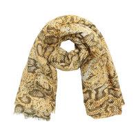 Lange dames sjaal Desert Snake|Lange shawl|Slangenprint|Geel