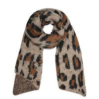 Winter sjaal Leopard Returns|Lange shawl|Luipaard Bruin