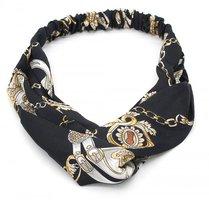 Haarband Belts Chains|Chiffon|Zwart bruin