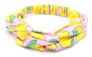 Haarband Lemons|Chiffon|Roze geel groen