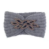 Hoofdband Winter Sparkle|Grijs|Gebreide haarband|glitter