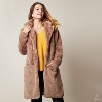 Faux fur jas Winter Bliss|Bruine mantel|nepbont jas