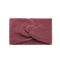 Hoofdband Soft as Snow|Fuchsia roze rood|Gebreide haarband