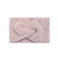 Hoofdband Soft as Snow|Baby roze|Gebreide haarband