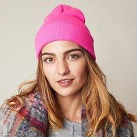 Stoere dames muts Rainbow Colors|Roze|Gebreide beanie